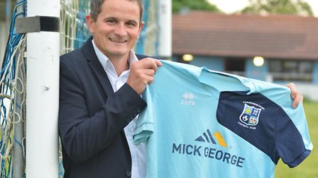 Adie Cambridge after his appointment as Godmanchester Rovers manager in early June.