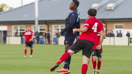 New St Ives Town signing Dubi Ogbonna in action for St Neots earlier this season. Picture: CLAIRE HO