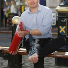 Herts Advertiser editor Matt Adams is taking part in a firewalk at Batchwood Hall to raise funds for