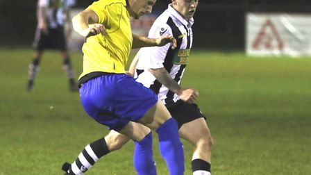 James Ducket of Eynesbury Rovers in their win at Peterborough Northern Star. Picture: TIM GATES