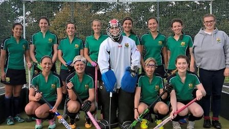 St Ives Ladies 2nds are, back row, left to right, Hollie Willett, Hannah Foad, Bex Barton, Nichola C