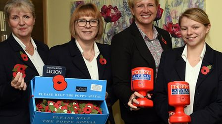 The launch of the Poppy Appeal at TL Cobbold in St Neots