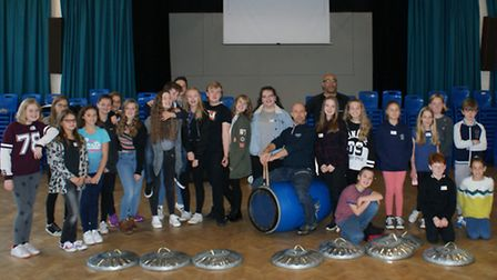The cast of Stomp visited Sawtry Village College