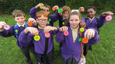 Pupils at St Anne's in Godmanchester have been given high-visibility clips.