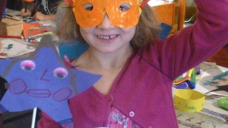 Jenica Morrissey at a Crafty Kids session.