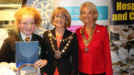 left to right: Jennifer Pooley, The Mayor, Wendy Howson- President of the Rotary Club of St Albans V