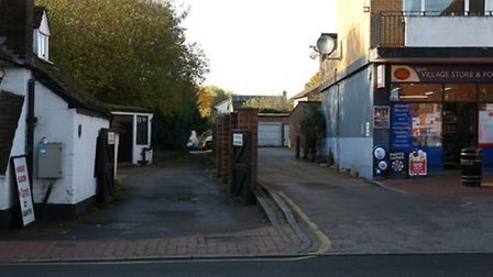The area of land to the rear of Station Road in Wheathampstead.