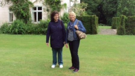 Chair Mary Duff with vice chair Sue Pinner.