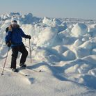 Rob Smith earlier this year when he visited the North Pole as part of his training