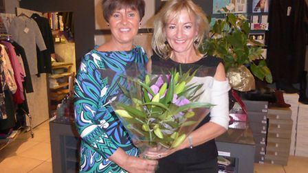 Tracy Aggett from Home-Start and Sally Saunders of Esse Retail & Therapy in Melbourn.