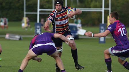 Hartpury College provided a tough day at the office for Billy Johnson's Old Albanian side. Picture: