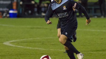 Tom Wood hit St Neots Town's late equaliser at Marine last Saturday. Picture: CLAIRE HOWES