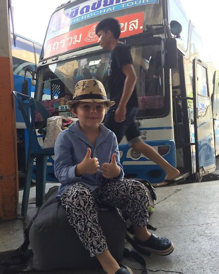 St Albans mum Susannah Cery is a committed backpacker - her son, Alfred, is pictured in Thailand, wa