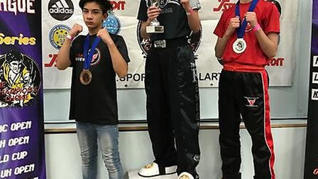 Dylan Wagner picked up two first places at the WAKO CIMAC superleague event