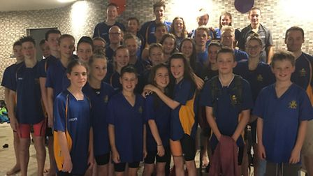 City of St Albans (CoStA) swimming team that took part in the Arena League