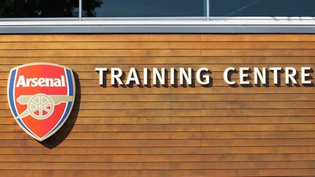 Arsenal's training ground in London Colney, where the press conference was held