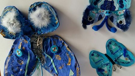 Pupil's created blue-themed works of art to help raise money and awareness for Diabetes UK.