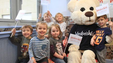 More than £100 was raised in aid of Winston's Wish - a childhood bereavement charity