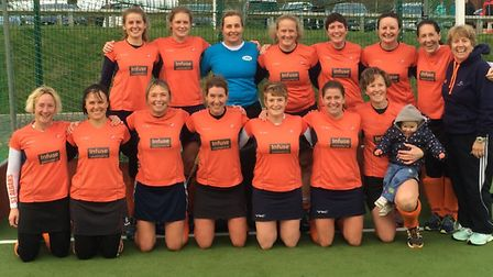 The St Albans Ladies Vets following their 6-0 win against Ipswich. Picture: CHRIS HOBSON