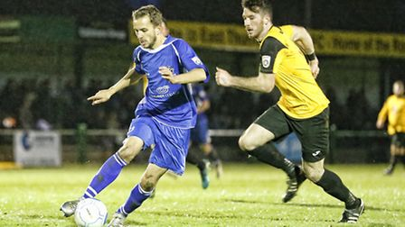 Sam Merson on the attack. Picture: LEIGH PAGE