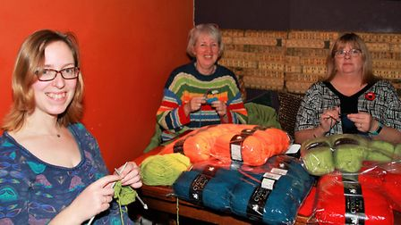 Alice Martin, Alison White, and Alison Scully enjoying a busy evening. Picture: Clive Porter