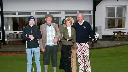 Royston Golf Club's 2017 captains at the traditional drive-in