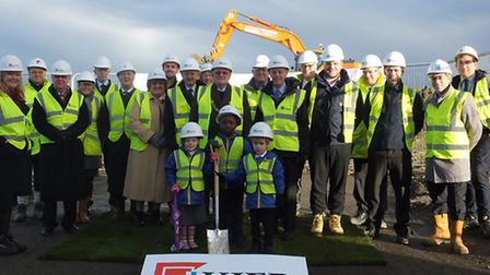 The groundbreaking ceremony at Godmanchester