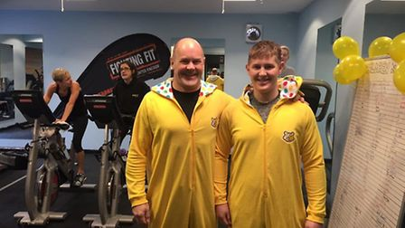 Tim and Matty took part in the 24-hour sports challenge at Fighting Fit Gym in Royston.