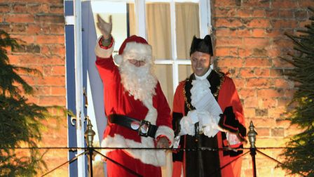 The Christmas lights switch-on in Huntingdon.