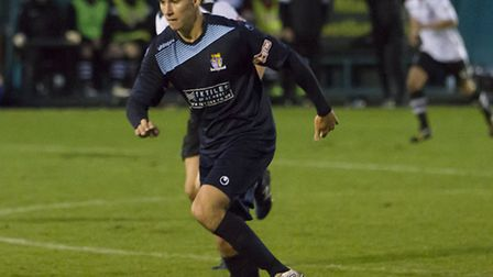 Tom Wood was another of the St Neots Town players to see red during the club's FA Trophy exit. Pictu