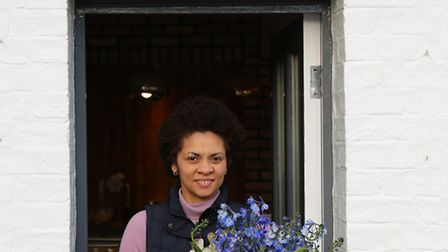 Kenia Hatfield is celebrating the first year of her business, September Flowers.