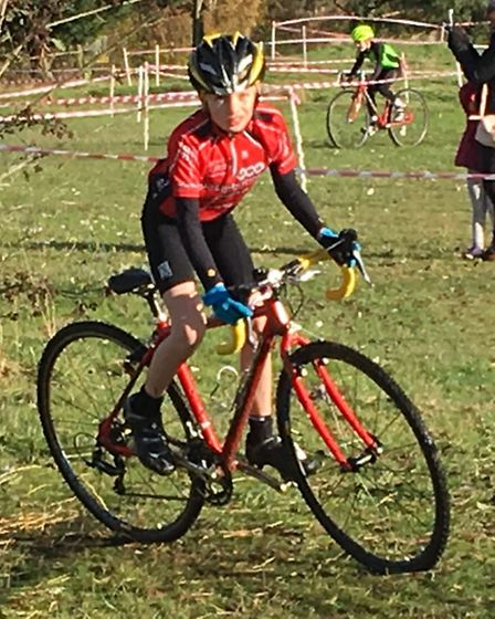 Dominic Pauley in action at the latest round of the Central Cyclocross League.