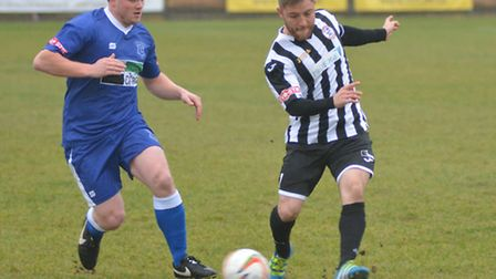 Ben Seymour-Shove hit St Ives Town's winner in their FA Trophy triumph against Leek Town. Picture: H