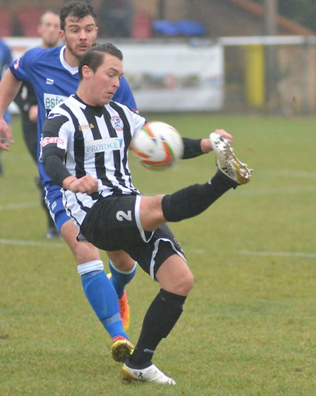 Harry O'Malley scored at both ends as St Ives Town beat Leek Town in the FA Trophy. Picture: HELEN D