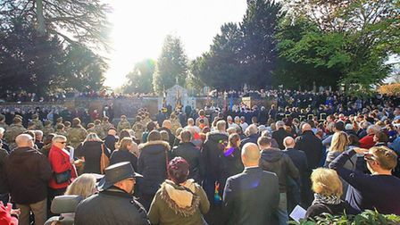 Remembrance Sunday in Royston. Picture: Kevin Richards