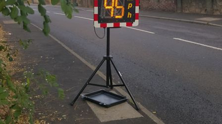 The speed indicator device that the volunteers use.