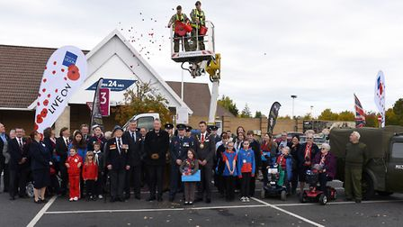 The Royal British Legion launched its annual Poppy Appeal at Tesco in Huntingdon