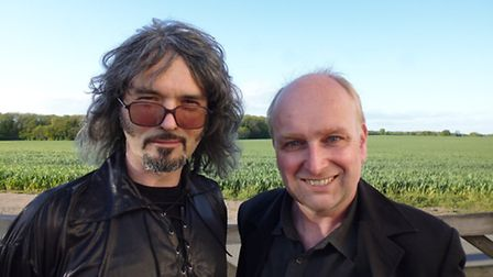 Frontman of The Pocket Gods Mark Christopher Lee (right) is 'moving with the times' with the album '