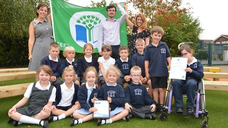 Crosshall Infants School have received a Green Flag award, literally for our Eco awareness and an aw