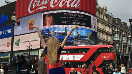 Gracing billboards around the country: St Albans' Grace Hynds