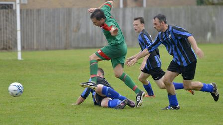 Carl Foreman has made an electric start at Huntingdon United. Picture: DUNCAN LAMONT