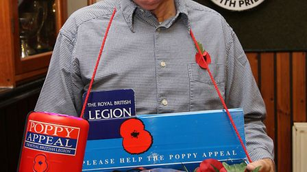 Don Dell who helps organise the St Albans poppy appeal