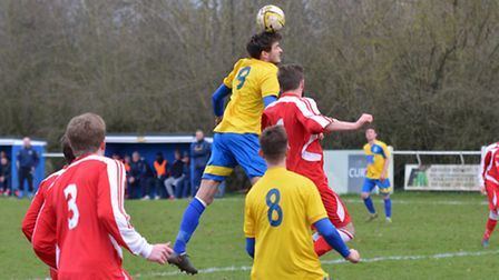 Ben Warren scored twice as Harpenden Town beat Hillingdon Borough on Tuesday night. Picture: KEVIN L