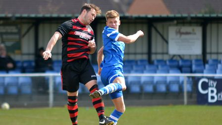 Jack Woods got the winner as London Colney beat Wembley on Saturday. Picture: KEVIN LINES
