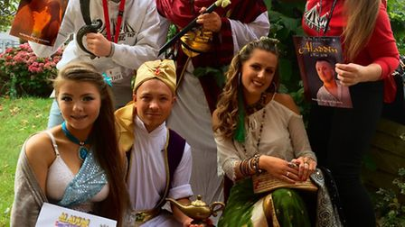 Members of the cast from this year's Aladdin production