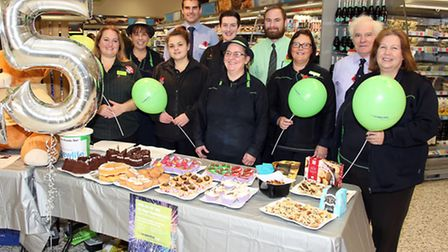 Family Fun Day at St Neots Coop - 25th anniversary of storeColleagues l-r Katie Paton, Sally Ball,