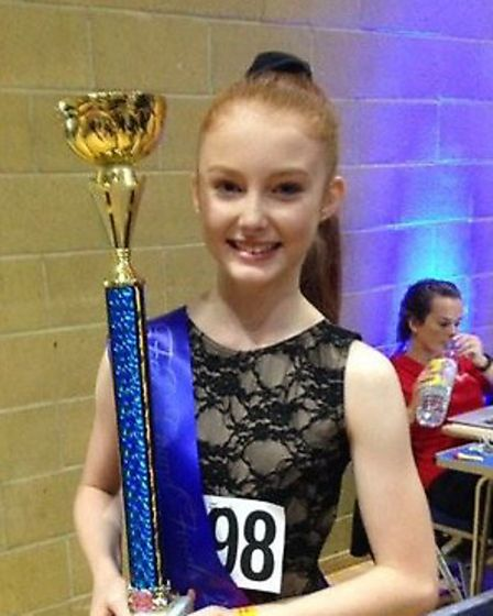 Holly Henry, 13, came first in the under 14s freestyle dance category.