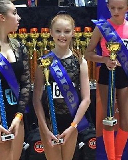 Holly Henry, 13, was over the moon to have won.