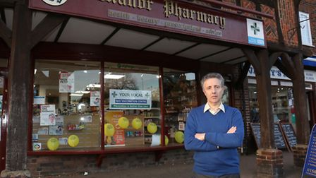 Owner of Manor Pharmacy Graham Phillips is unhappy with planned Government pharmacy funding cuts.