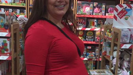 Caroline Collings is expecting her first child in 10 weeks.